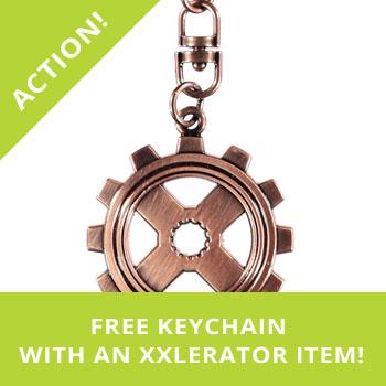 Free keychain with XXlerator item