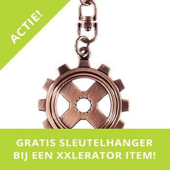 Gratis sleutelhanger bij XXlerator item!
